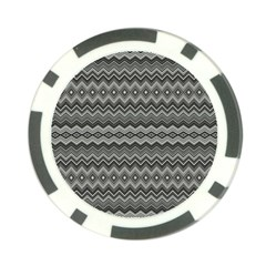 Greyscale Zig Zag Poker Chip Card Guard (10 Pack)