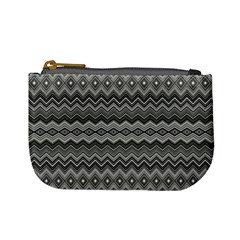 Greyscale Zig Zag Mini Coin Purses