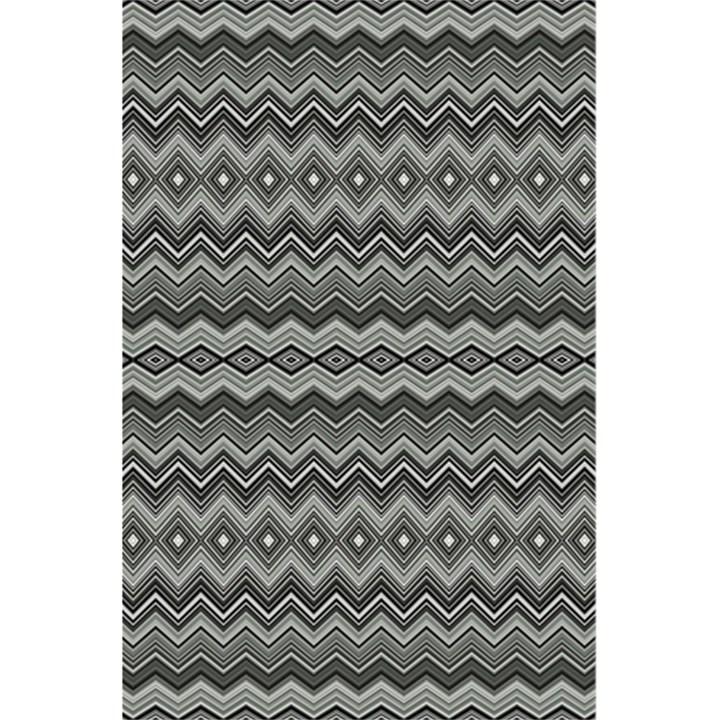 Greyscale Zig Zag 5.5  x 8.5  Notebooks