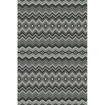 Greyscale Zig Zag 5.5  x 8.5  Notebooks Front Cover Inside
