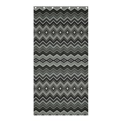 Greyscale Zig Zag Shower Curtain 36  X 72  (stall)