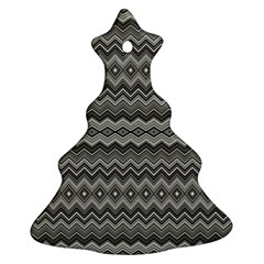 Greyscale Zig Zag Ornament (christmas Tree)