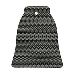 Greyscale Zig Zag Bell Ornament (Two Sides)