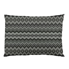 Greyscale Zig Zag Pillow Case (two Sides)