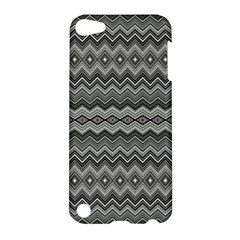 Greyscale Zig Zag Apple iPod Touch 5 Hardshell Case
