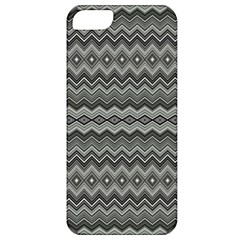 Greyscale Zig Zag Apple iPhone 5 Classic Hardshell Case