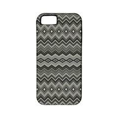 Greyscale Zig Zag Apple Iphone 5 Classic Hardshell Case (pc+silicone)
