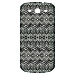 Greyscale Zig Zag Samsung Galaxy S3 S Iii Classic Hardshell Back Case