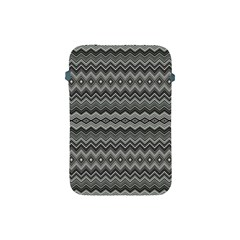 Greyscale Zig Zag Apple Ipad Mini Protective Soft Cases