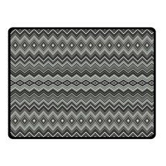 Greyscale Zig Zag Double Sided Fleece Blanket (small)