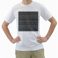Greyscale Zig Zag Men s T Shirt (white)