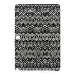 Greyscale Zig Zag Samsung Galaxy Tab Pro 10.1 Hardshell Case
