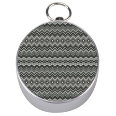 Greyscale Zig Zag Silver Compasses