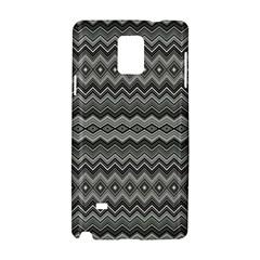 Greyscale Zig Zag Samsung Galaxy Note 4 Hardshell Case