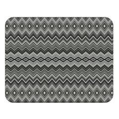 Greyscale Zig Zag Double Sided Flano Blanket (large)