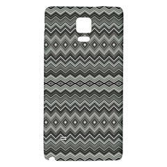 Greyscale Zig Zag Galaxy Note 4 Back Case