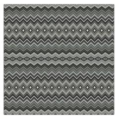 Greyscale Zig Zag Large Satin Scarf (square)