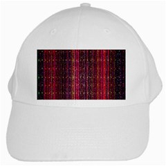 Colorful And Glowing Pixelated Pixel Pattern White Cap