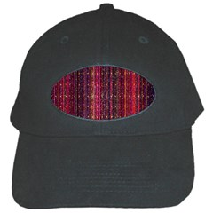 Colorful And Glowing Pixelated Pixel Pattern Black Cap