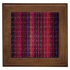 Colorful And Glowing Pixelated Pixel Pattern Framed Tiles