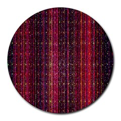 Colorful And Glowing Pixelated Pixel Pattern Round Mousepads