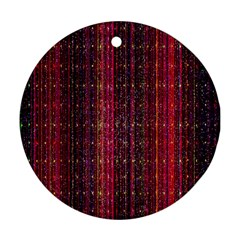 Colorful And Glowing Pixelated Pixel Pattern Ornament (Round)