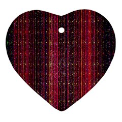 Colorful And Glowing Pixelated Pixel Pattern Ornament (heart)