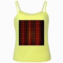 Colorful And Glowing Pixelated Pixel Pattern Yellow Spaghetti Tank