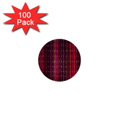 Colorful And Glowing Pixelated Pixel Pattern 1  Mini Buttons (100 Pack)