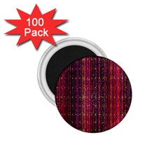 Colorful And Glowing Pixelated Pixel Pattern 1 75  Magnets (100 Pack)