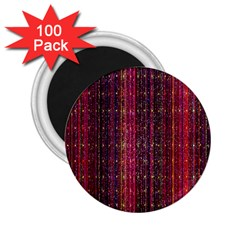 Colorful And Glowing Pixelated Pixel Pattern 2.25  Magnets (100 pack)