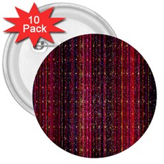 Colorful And Glowing Pixelated Pixel Pattern 3  Buttons (10 Pack)