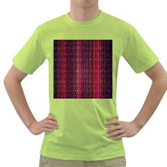 Colorful And Glowing Pixelated Pixel Pattern Green T-Shirt