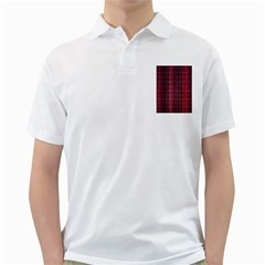 Colorful And Glowing Pixelated Pixel Pattern Golf Shirts