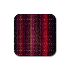Colorful And Glowing Pixelated Pixel Pattern Rubber Coaster (square)