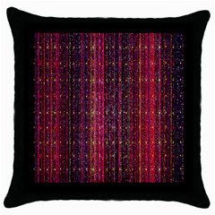 Colorful And Glowing Pixelated Pixel Pattern Throw Pillow Case (black)