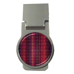 Colorful And Glowing Pixelated Pixel Pattern Money Clips (Round)