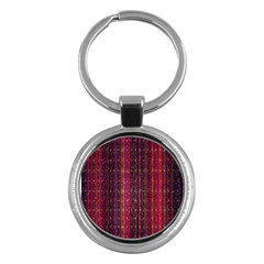 Colorful And Glowing Pixelated Pixel Pattern Key Chains (round)
