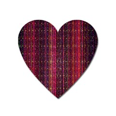 Colorful And Glowing Pixelated Pixel Pattern Heart Magnet
