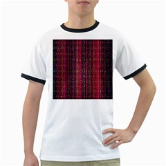 Colorful And Glowing Pixelated Pixel Pattern Ringer T Shirts