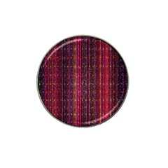 Colorful And Glowing Pixelated Pixel Pattern Hat Clip Ball Marker