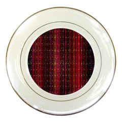 Colorful And Glowing Pixelated Pixel Pattern Porcelain Plates