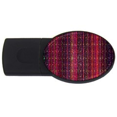 Colorful And Glowing Pixelated Pixel Pattern Usb Flash Drive Oval (4 Gb)
