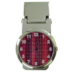 Colorful And Glowing Pixelated Pixel Pattern Money Clip Watches
