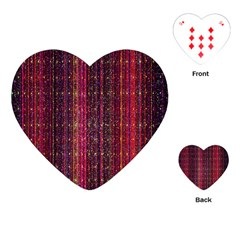Colorful And Glowing Pixelated Pixel Pattern Playing Cards (heart)