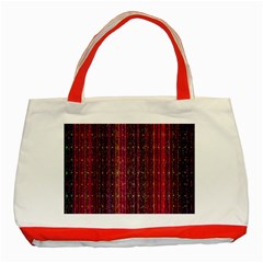 Colorful And Glowing Pixelated Pixel Pattern Classic Tote Bag (red)