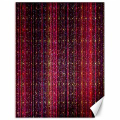 Colorful And Glowing Pixelated Pixel Pattern Canvas 12  X 16
