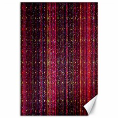 Colorful And Glowing Pixelated Pixel Pattern Canvas 12  X 18