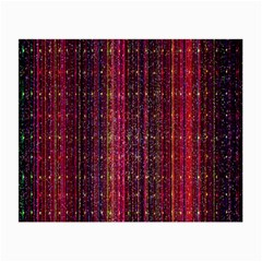 Colorful And Glowing Pixelated Pixel Pattern Small Glasses Cloth (2 Side)