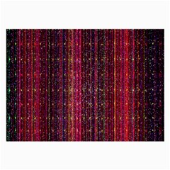 Colorful And Glowing Pixelated Pixel Pattern Large Glasses Cloth